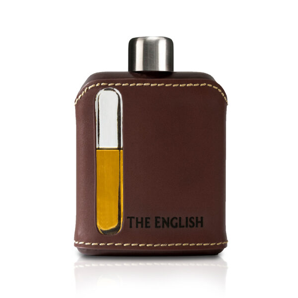 Leather and Glass Hipflask